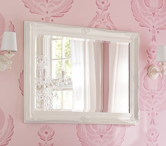 To go above kids dresser. Baroque Mirror | Pottery Barn Kids