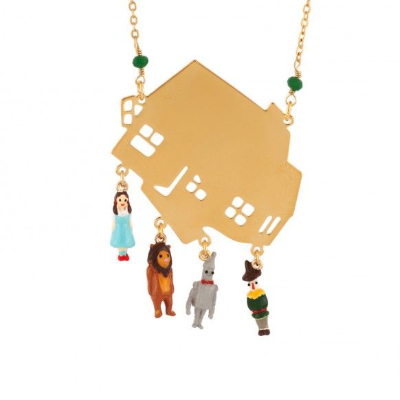 Wonderful Wizard of Oz's characters and house in the tornado long necklace