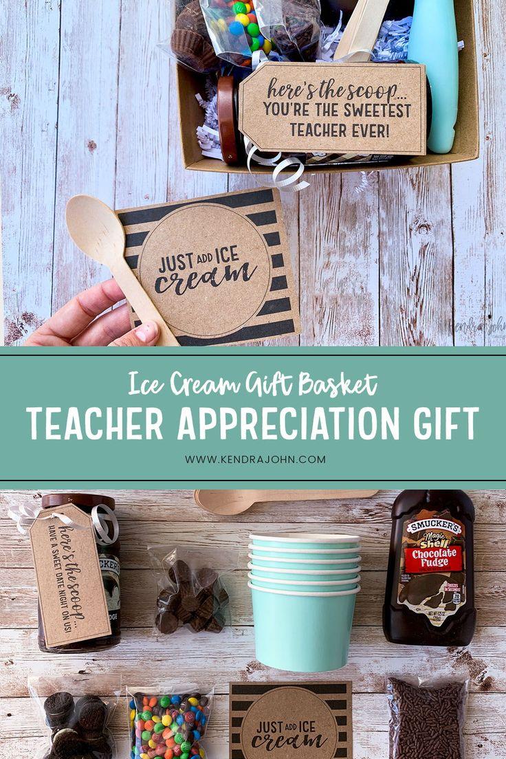Ice cream gift basket with free printables kendra john