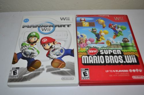 Mario Kart & Red New Super Mario Bros for Nintendo Wii Fun Family Video Game LOT: $44.99 End Date: Saturday Apr-7-2018 11:13:52 PDT Buy It…