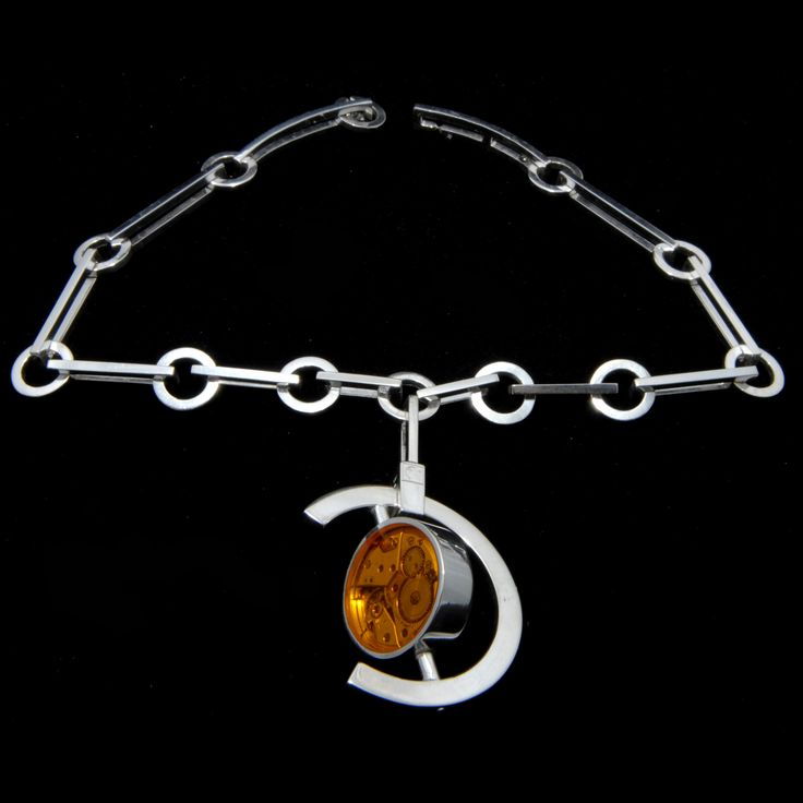 Armassing Time 1 (necklace) 2009 Sterling Silver 180 gr, Yellow and Transparent Plexiglas