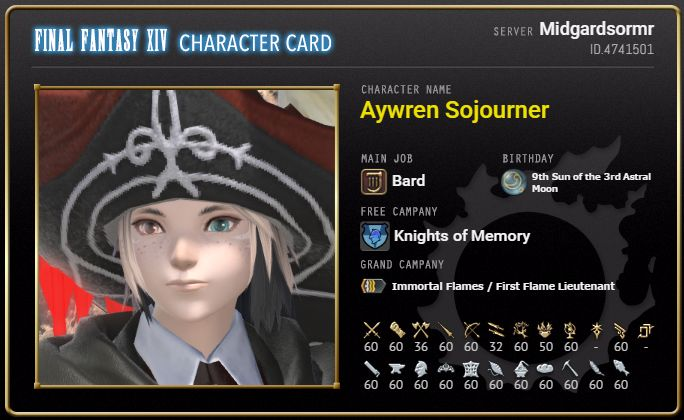 FFXIV: Character Cards - http://ityy.org/2017/06/05/ffxiv-character-cards/