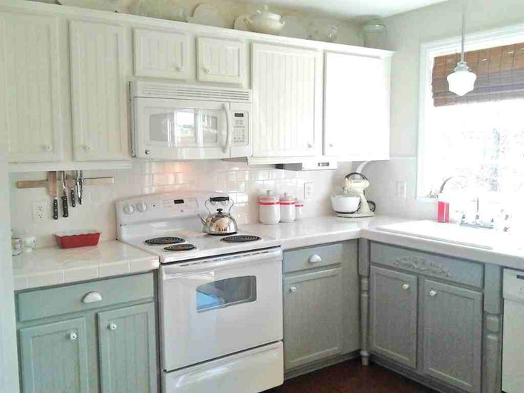 DIY. Paint Cabinets Without Needing To Replace Current Countertops.