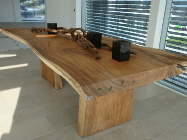 meuble en bois massif, table de salon