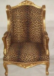Gilt Leopard Wing Back