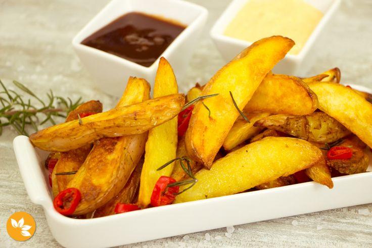 Receitas de batatas - Batata Rústica Picante com Alecrim