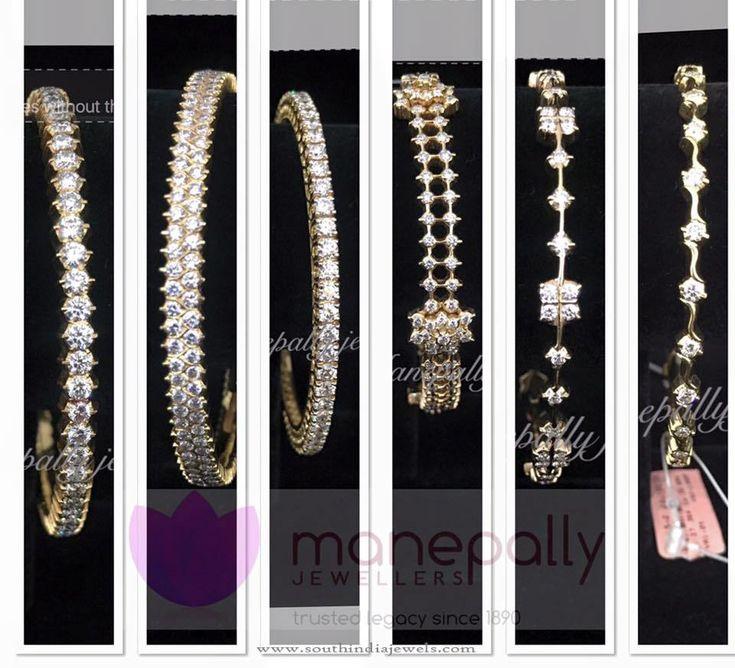 Latest Diamond Bangle Designs 2016, Latest Diamond Bangle Collections 2016.