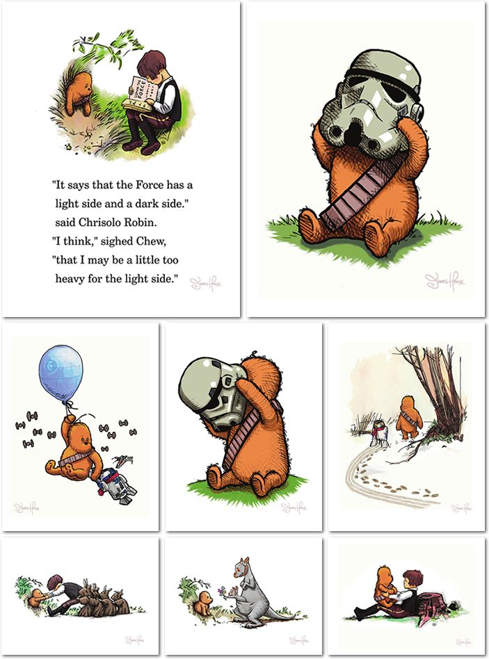 This is a book that needs to be written  Art By James Hance - Wookiee The Chew Print Set