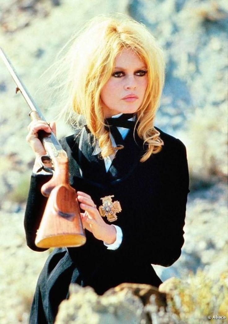 Brigitte Bardot photographed on the set of Shalako (1968)