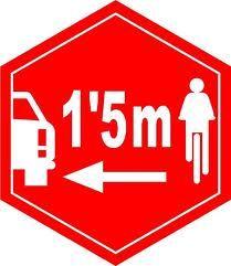 Distancia seguridad entre coches y bicicletas