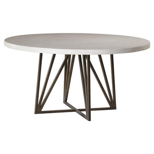Maison 55 Emerson Modern Classic Concrete Top Metal Dining Table
