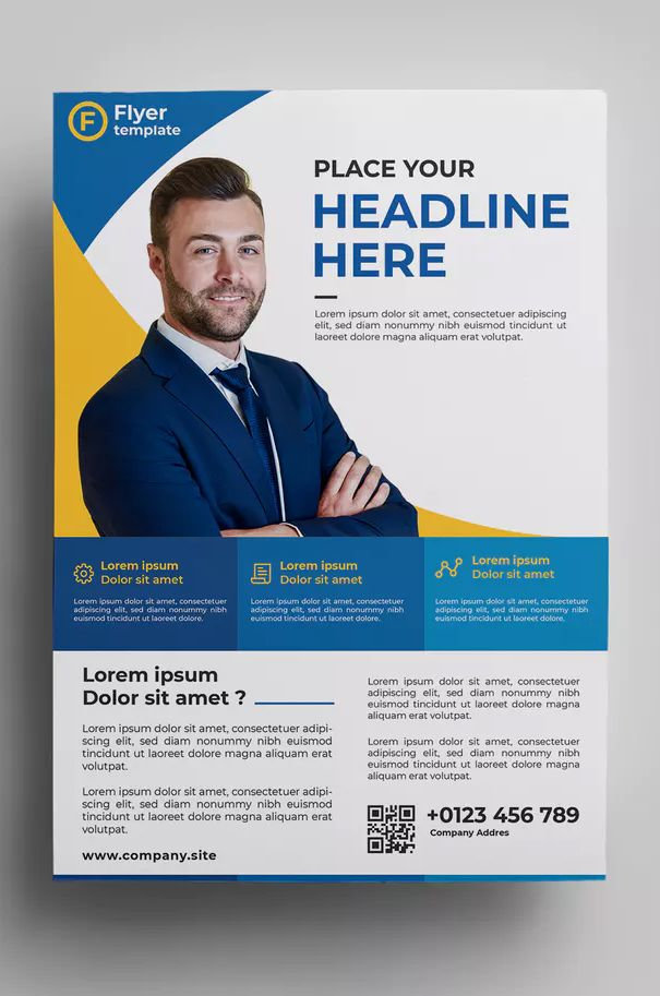 Corporate Flyer Template AI, EPS - Easy Customizable and Editable