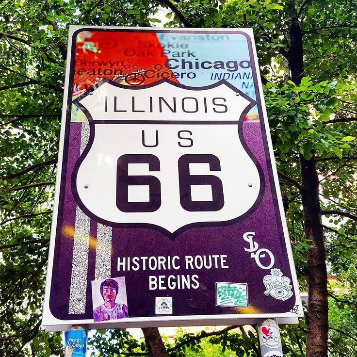 """""""Maybe next time..."""" If we had choosen the Route 66 our journey would started here. We decided for an other trip but Chicago was a must seen one of the USA icons.  Now we left Chicago and the Route 66 remains in our dreams for the next time.  Se avessimo scelto di percorrere la Route 66 il nostro viaggio sarebbe iniziato qui a Chicago.  E invece dopo aver a lungo fantasticato sulla Mother Route abbiamo scelto un percorso diverso. Però non si poteva mancare Chicago un po' per la curiosità di…"""