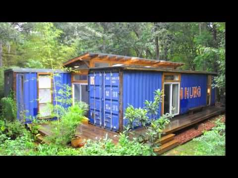 Уютные дома из контейнеров на даче - YouTube