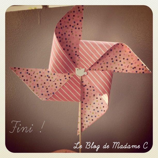 1000 id es propos de moulins vent de papier sur pinterest d corations - Moulin a vent decoratif ...