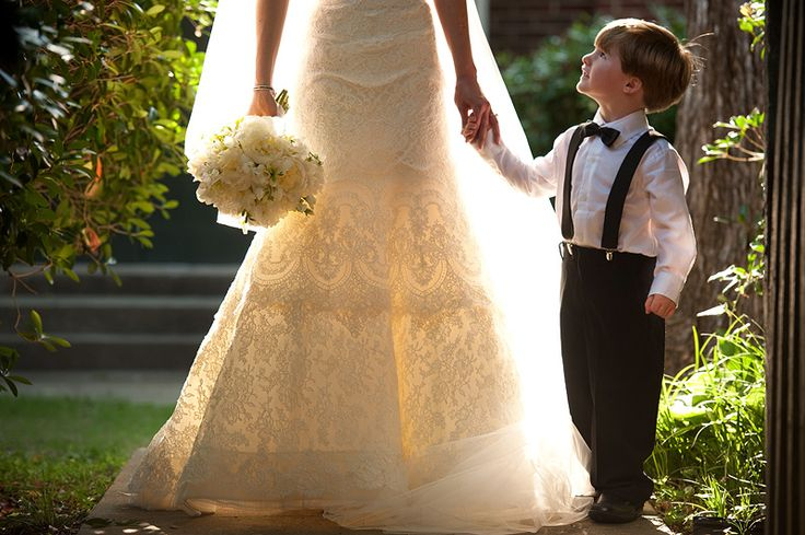 I want a photo like this with my little guy ♡ .. that is if I have kids when we have our real wedding!
