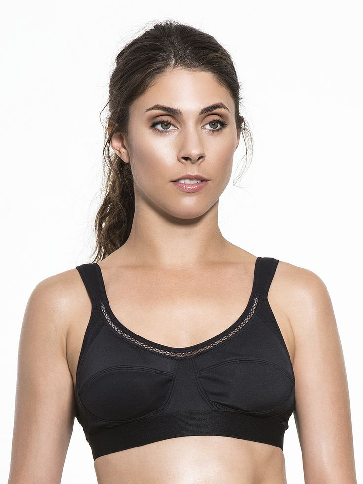 This sleek and formfitting bra by Stella McCartney covers enough to be worn solo but leaves skin free where it should. An adjustable back and supportive design in the front will have you feeling pretty and feminine no matter how hardcore your workout.