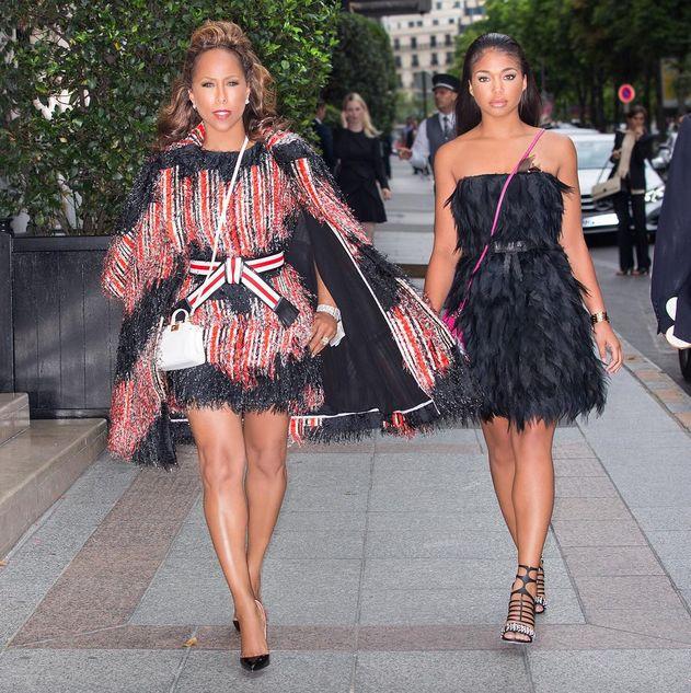 Marjorie Harvey Wears Elie Saab, Giambattista Valli, Chanel, and more to Paris Fall 2015 Haute Couture Fashion Week fendi