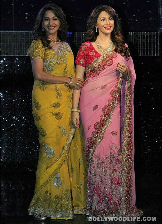 #MadhuriDixit's wax statue unveiled at #MadameTussauds #London : Bollywood diva Madhuri Dixit came face to face with her wax figure at the London wax museum recently    Kareena Kapoor was honoured with a wax statue at Madame Tussauds last year and this year Ms Madhuri Dixit-Nene is the chosen one. Considering there was a time when only the Khans and the Bachchans made their way into the museum, it's quite a refreshing change to see even our B-town women be a part of this prestigious space