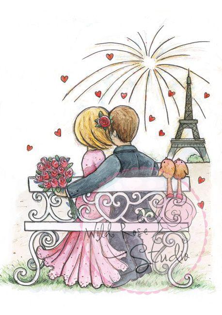 Stempel - Fireworks in paris - Wild Rose Studio Na-Strychu