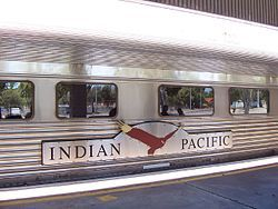 Indian Pacific on the platform at East Perth.jpg