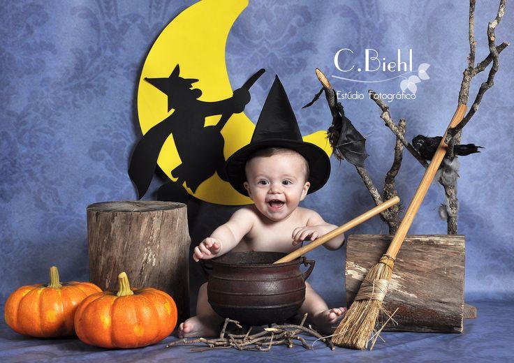 Cenários de Halloween - C.Biehl Estúdio Fotográfico - Porto Alegre - fotografia de recém-nascido, bebês, newborn  www.cbiehl.com.br