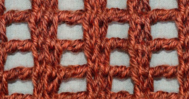 My Tunisian Crochet: Lace Columns