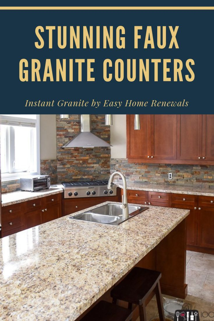 Instant Granite By Easy Home Renewals Is The Easy Affordable And Durable Way To Get The Look Of Granite Instant Granite Faux Granite Faux Granite Countertops