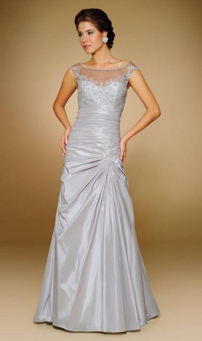 Rina Di Montella 1811 Mother of the Bride Illusion Dress