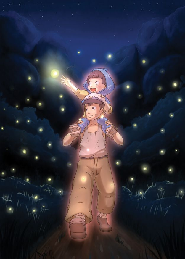(Grave of the Fireflies) Tombeau des Lucioles by ~roxnin on deviantART