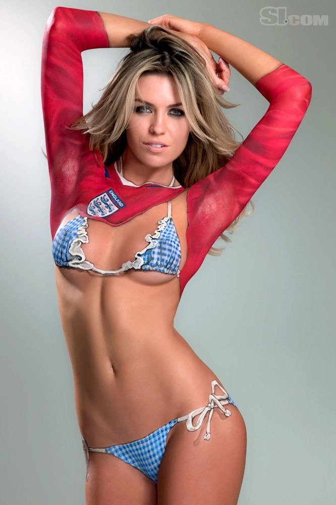 Sports Illustrated Abbey Clancy Body Paint ...   Sports Illustrated ...