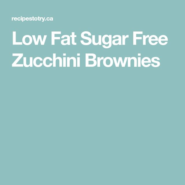 Low Fat Sugar Free Zucchini Brownies