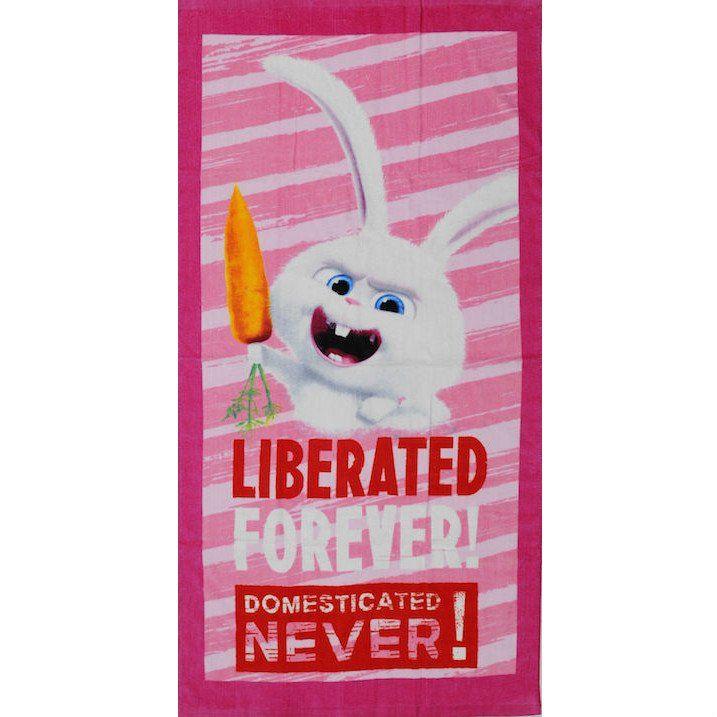 Secret Life Of Pets pyyhe Kääriydy kylvyn jälkeen tähän pehmeään pyyhkeeseen, jossa seikkailee lapsesi lempi Lemmikkien Salainen elämä hahmo Lumipallo!