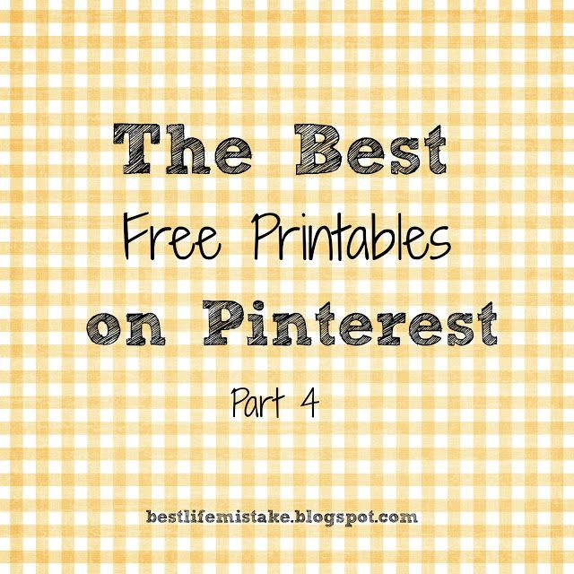 Some of the Best Things in Life are Mistakes: My Favorite Free Printables- Part 4