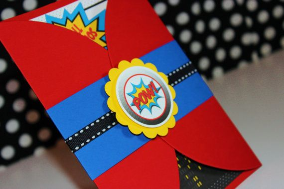 Spider Boy Birthday Gate Fold Invitations-SET OF 10 on Etsy, $35.00