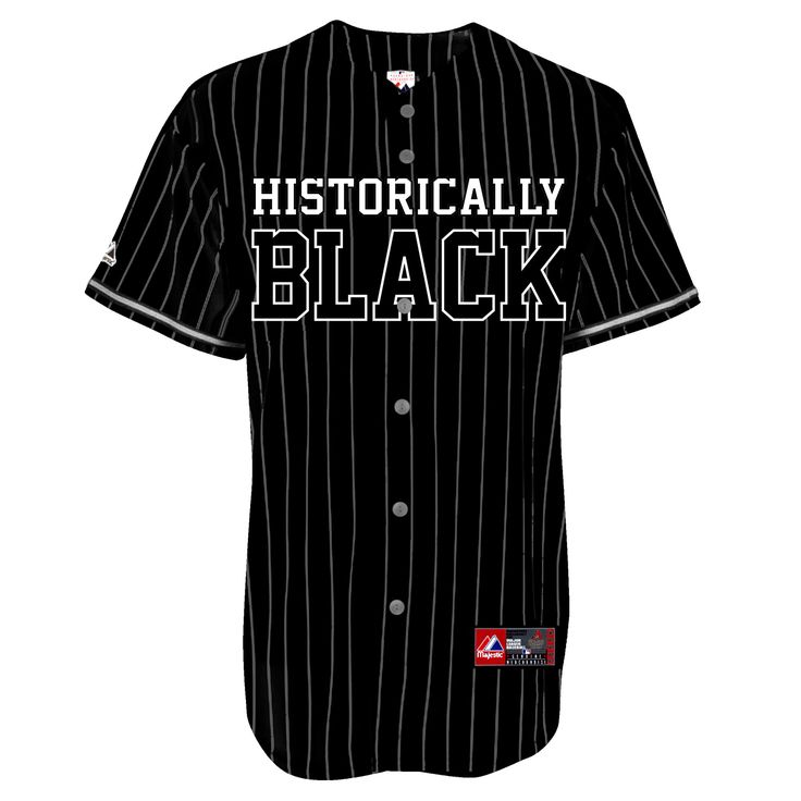 Hbcu historically black baseball jersey black