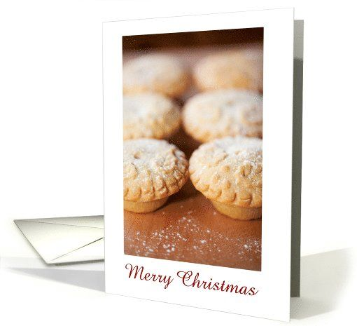 Merry Christmas with fruit mince pies card - Sweet and yummie christmas card! :D