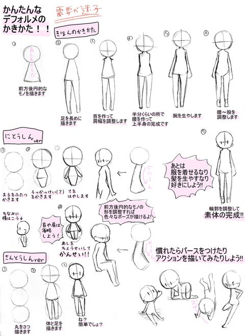 Character Design Tutorial Manga : Pixiv spotlight tutorials about sd and chibi