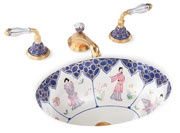 Beautiful chinoiserie sink from sherlewagner.com. Would be perfect in my half-bath!!
