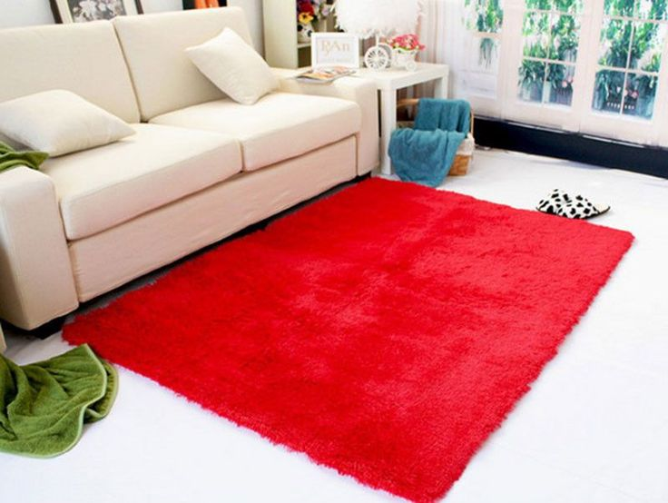 Shaggy Rug Anti Slip Bath Bedroom Mat Shower Carpet Soft Plush