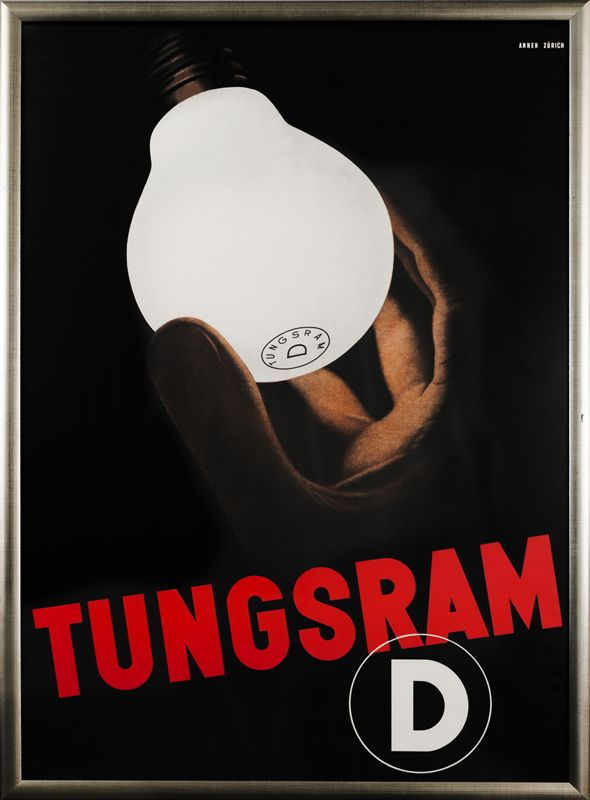 Tungsram D by Annen, Melchior | Baumberger, Otto Baumann - Fraumunsterstr. 17, 1928 | Shop original vintage Swiss #posters online: www.internationalposter.com