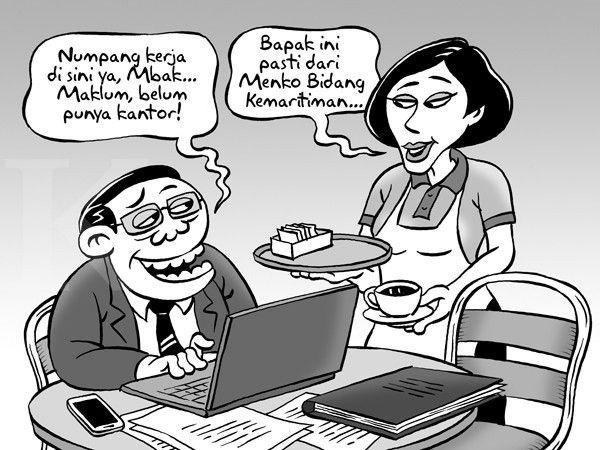 Kartun Benny, Kontan Oktober 2014:Benny Rachmadi - Kantor Sementara Menko Kemaritiman