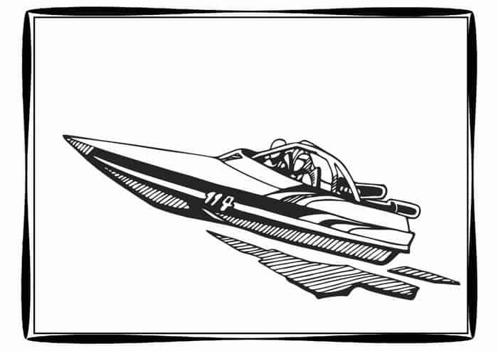 Boat Coloring Pages Printable In 2020 Speed Boats Coloring
