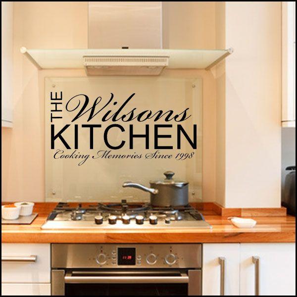 Personalised kitchen wall sticker decals kitchen for Kitchen quote decals