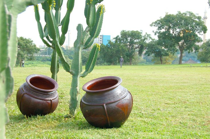 Nupe pottery in the garden