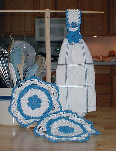 Ravelry: Victorian Posy Kitchen Set pattern by Karen Ratto-Whooley