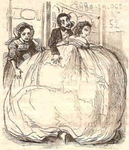 MODES DE L'AN PROCHAIN  « Paris est toujours la métropole de l'élégance et du bon goût »  Dessin de Télory (1858)