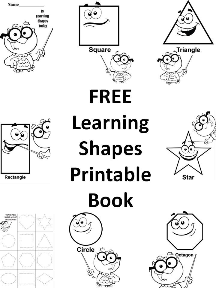 free learning shapes printable preschool book homeschool back to and back to school. Black Bedroom Furniture Sets. Home Design Ideas