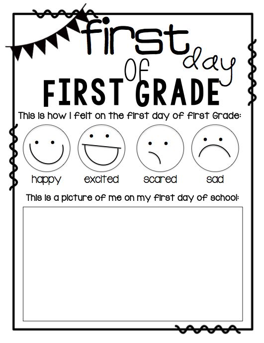 Worksheets first day first grade worksheets opossumsoft for First day jitters coloring page