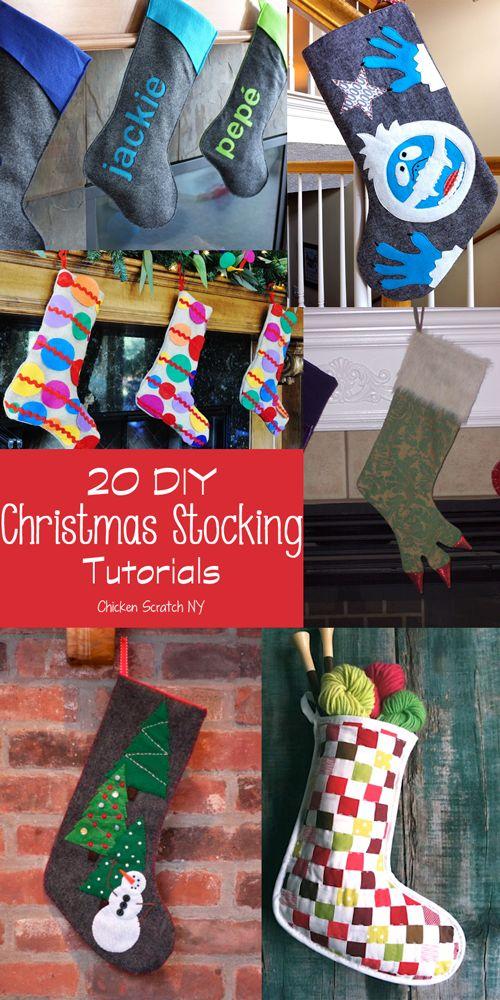 20 DIY Christmas Stocking Tutorials #DIY #stockings #Christmas repinned by www.stowedstuff.com